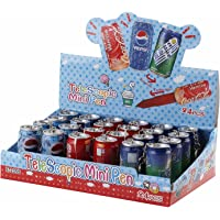 Jiada Box of 24 Pcs Cokepen Can Shape with Keychain for Kids - Birthday Return Gifts in Bulk