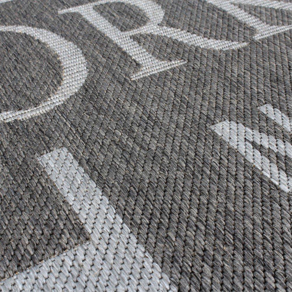 Teppich design grau  Teppich Modern City Sisal Optik Flachgewebe Designer Teppich in ...