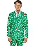 OFFSTREAM Weihnachtsanzüge für Herren in Verschiedenen Drucken - besteht aus Sakko, Hose und Krawatte