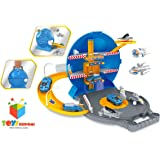 Toys Bhoomi Space Union Multi-Storey Track Set with Spaceships, Cars & Vehicles for Kids Playing