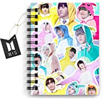 DI-Kraft Unruled Paper BTS Theme Graphic Printed Journal Diary Spiral Notebooks Wire Bound Memo Notepads Diary Notebooks…