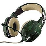Trust GXT 322C Gaming Kopfhörer (mit flexiblem Mikrofon, für PS4, Xbox One und PC) grün camouflage