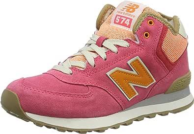 New Balance 574 Mid, Scarpe da Ginnastica Alte Donna, Rosa ...