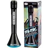 Mi-Mic TY5899BK Karaoke Microphone Speaker with Wireless Bluetooth and LED Lights, Black