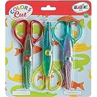 Aladine - Colors Cut Cranteurs - Lot de 3 Ciseaux Cranteurs - Loisirs Créatifs Enfant - Ergonomie et Sécurité - À partir…