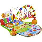 Baby Playmat Intelligent Piano Gym Play Mat Infant Play Gym Activity Music Mat Multifunctional Kicking, Playing Piano Gym Pia