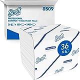 Scott Control 8509 Papier toilette plié 2 épaisseurs, 36 paquets de 220 feuilles, Pour distributeurs Aquarius compatibles, Ma