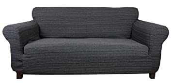 Stretch Elastic Sofa Cover black gray for 3 Seater Settee