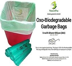 NaturePac Garbage Bags Biodegradable For Kitchen,Office,Medium Size (Green ,48cmx56cm,180 Bag)
