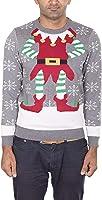Noroze Herren Damen Unisex Neuheit Weihnachten Pullover Strickpullover + Kostenlos Hut