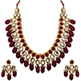 Matushri Art Indian Traditional Jewelry Gold Plated Antique Neckless Set For Women's And Girls