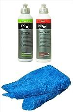 Koch Chemie Politur Set Heavy Cut H8.02 Schleifpolitur + Koch Chemie Micro Cut & Finish P2.02 mit Atom Mikrofasertuch