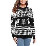 Sykooria Su/éter de Navidad Hombre C/álido de Invierno Jersey Impreso Elegante Pullover Hombre de Reno de Punto de Manga Larga Sweaters de Navidad para Hombre