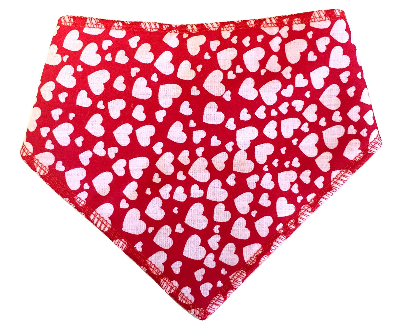 Spoilt Rotten Pets (S4) Branded Red & White Hearts Dog Bandana Adjustable Neck to Fit Large to Extra/Large Dogs – Neck Size 23″ – 28″ Generally Fits Chow Chow, German Shepherd, St Bernard, Dogue de Bordeaux and Similar Sized Dogs.