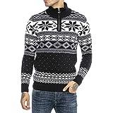 Redbridge Suéter de Punto para Hombres Estilo Noruego Jersey Pulóver con Cuello Alto
