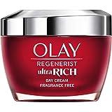 Olay Regenerist Ultra Rich Crema De Día, Textura Rica No Grasa, Con Vitamina B3, Péptidos Y Manteca De Karité Sin Perfume, 50
