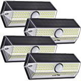 Luci Solari per Giardino, [4 Modalità 4 Pezzi]LITOM Versione Aggiornata luce solare led esterno IP67 impermeabile,Parete Wire