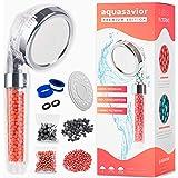 Aquasavior-douchekop, hogedruk-handkop, douchehendel met ionische antikalk en chloorfilter, afneembare badkamertelefoon met 3