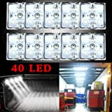 LED-ljusstång 40 LED-lampor LED-ljus bar skåpbil interiör ljussatser, LED-taklampor kit för skåpbil RV båtar husvagnar traile