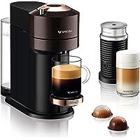 De'Longhi Nespresso Vertuo Next Premium ENV 120.BWAE Kaffeekapselmaschine mit Aeroccino Milchaufschäumer, braun mit…