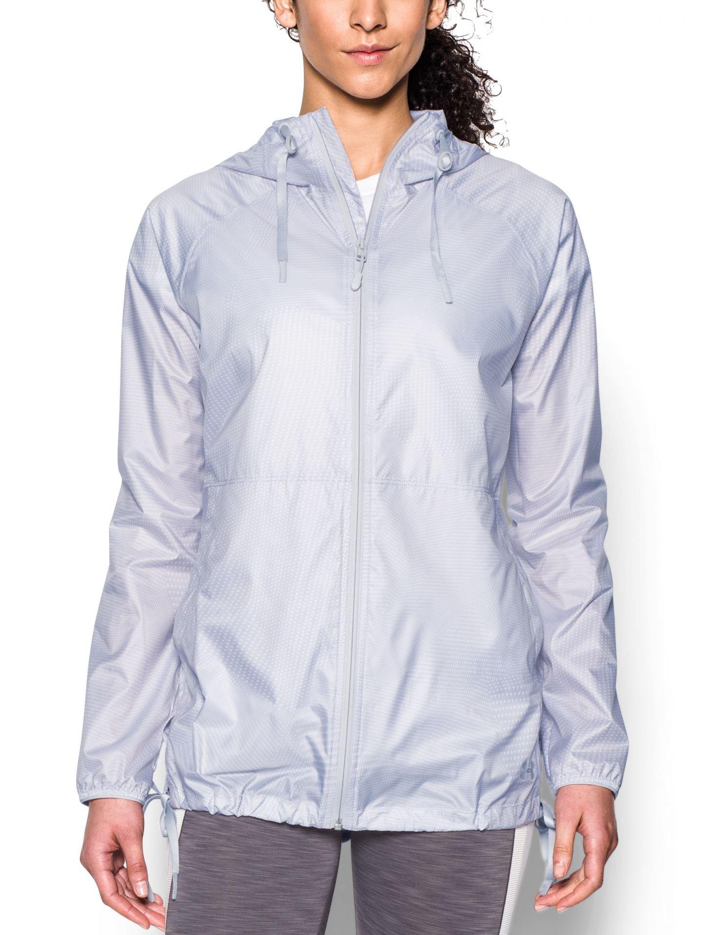 Under Armour UA Leeward giacca antivento, donna, White/Glacier Gray, S