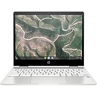 HP Chromebook x360 12b-ca0005nf PC Ultraportable Convertible et Tactile 12'' HD IPS Blanc (Intel Celeron, RAM 4 Go, eMMC 32 Go, AZERTY, Chrome OS)