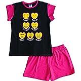 Pijama corto para niña adolescente Emoji estilo pijama 11 a 16 años negro