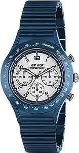 Orologio HIP HOP per uomo ALUMINIUM CHRONO con bracciale in policarbonato, movimento CHRONO QUARZO