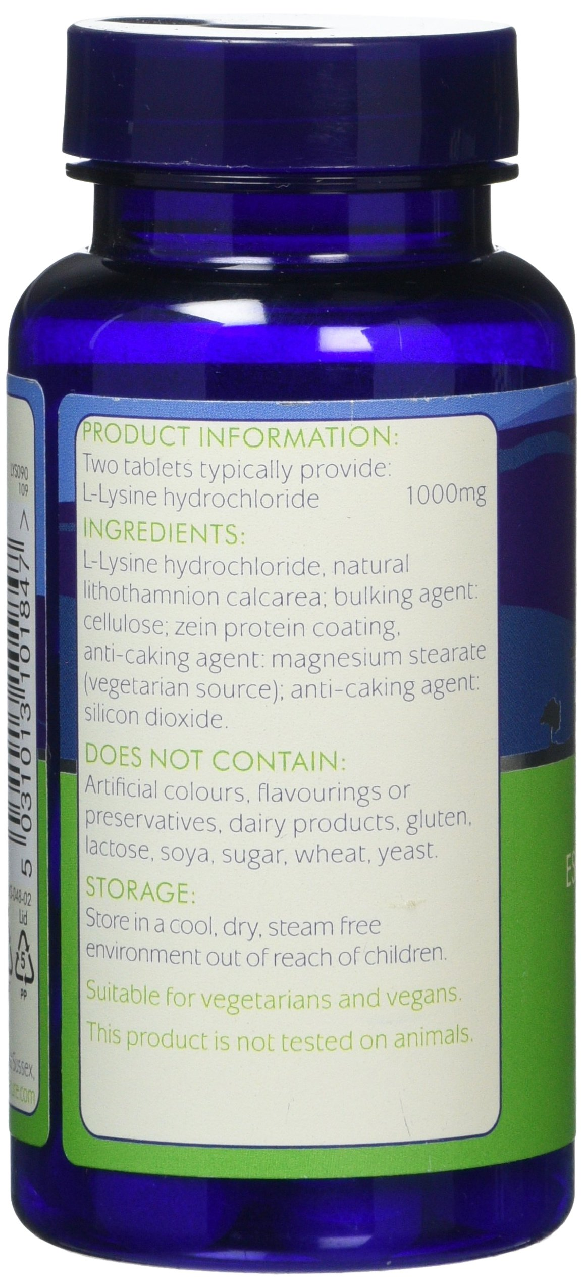 Higher Nature Lysine 500mg – 90 tablets