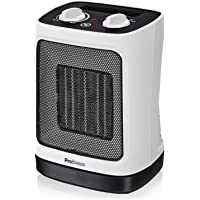 Pro Breeze Mini Radiateur soufflant Céramique 2000 W - Chauffage d'appoint à Oscillation Automatique et 2 Réglages de Température - Blanc
