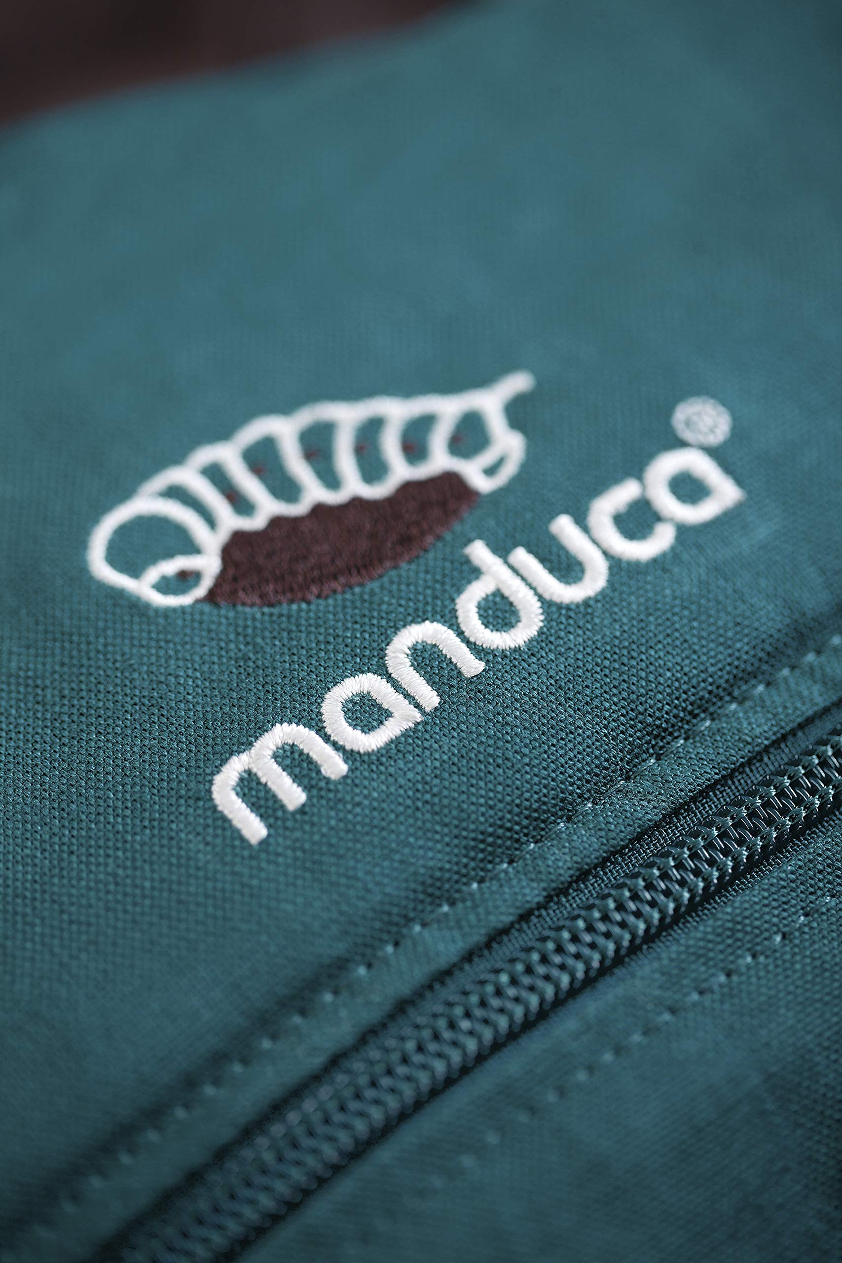 manduca First Baby Carrier > HempCotton Petrol Blue - Brown < Ergonomic Baby & Child Carrier, Soft & Sturdy Canvas (Organic Cotton & Hemp), Front, Hip & Back Carry, for Newborn to Toddlers up to 20kg Manduca manduca baby carrier First HempCotton: the original made of hemp & organic cotton with patented back extension, is already a classic. New features: Improved three-point-buckle (secure & easy to open) Integrated in every carrier: infant pouch (newborn insert), stowable headrest & sun protection for your baby, back extension (grows with your child); Optional accessories for newborns: Size-It (seat reducer) and Zip-In Ellipse Ergonomic design for men & women: Soft padded shoulder straps (multiple adjustable) & the anatomically shaped stable hipbelt (fits hips from 64cm to 140cm) ensure balanced weight distribution. No waist-belt extension needed 5