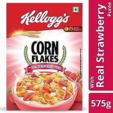 Kellogg's Cornflakes with Real Strawberry Puree, 575g