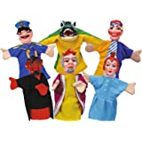 Simba-Simba-104586784-Ensemble de Marionnettes à Main-Punch et Judy-6 Pièces, 104586784, Multicolor