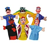 Simba 104586784 'Punch and Judy Hand Puppet Set (6-Piece)