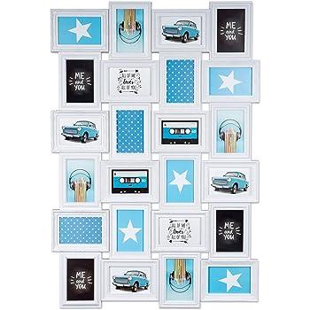 24 fotos bilderrahmen fotorahmen fotocollage collage fotogalerie bildergalerie wei. Black Bedroom Furniture Sets. Home Design Ideas