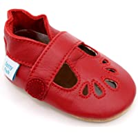 Dotty Fish Baby Girl's Soft Leather T-bar Shoes Sole Sandals