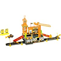 Toyshine Engineering Track Set with 3 Cars, Big Accessories - (P1206A-2)