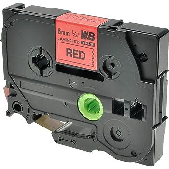 6 mm x 8 m starker Klebstoff Schwarz auf Transparent Logic-Seek 1x Band kompatibel mit Brother TZE-S111