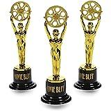 cama24com Mini Pokal mit Filmrolle im Gold Design 12 Stück Palandi®