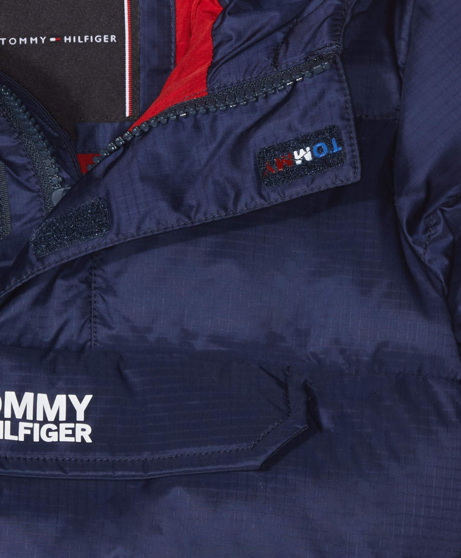 Tommy Hilfiger Padded Pop Over Jacket Chaqueta, Azul (Black Iris 002), 86 para Bebés