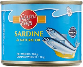 Golden Prize Canned Sardine in Natural Oil, 200g