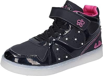 LULU' Sneaker Bambina Pelle Sintetica Nero