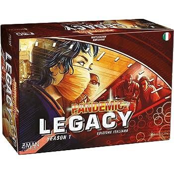 Asmodee Pandemic Legacy-Edizione Italiana, Colore Rosso, 8386