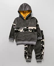 Kidofash Soft Fleece Top Bottom Set Tracksuit Sleepsuit Sleepware for 1 Years to 4 Years Old for Baby Girls and Baby Boys for Autumn and Winter Season