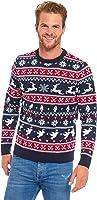 Herren Weihnachtspullover Unisex Hässliche Pulli Lustig Strickpullover Ugly Weihnachtspulli mit weihnachtlichen Motiven für Damen Herren Weihnachtsparty