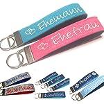 Schlüsselanhänger personalisiert aus Filz mit Namen Text Geschenk für Muttertag Vatertag Geburtstag Schlüsselband