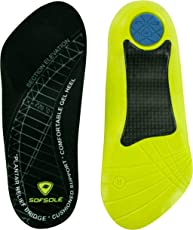 Sof Sole Plantar Fascia Comfort Gel Shoe Insole for Men and Women with Heel Spurs and Plantar Fasciitis