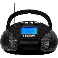 McGrey MC-50BT-BK Bluetooth Lautsprecher - Boombox mit UKW Radio-Wecker und Uhr - USB und SD Player - Betrieb über…