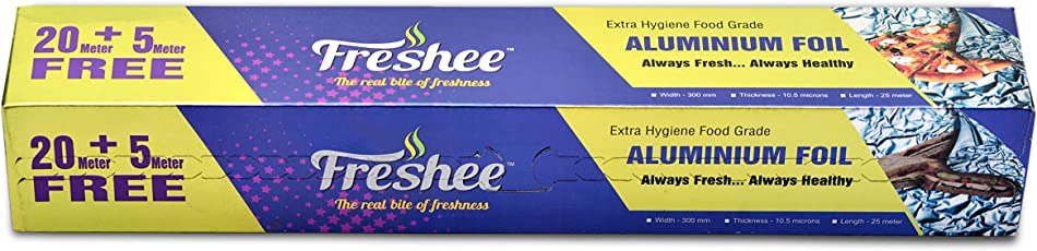 Silver Aluminium Foil Roll for Food Wrapping by Freshee's