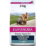 EUKANUBA Breed Specific Alimento seco para perros yorkshire terrier adultos, alimento para perros óptimamente adaptado a la r